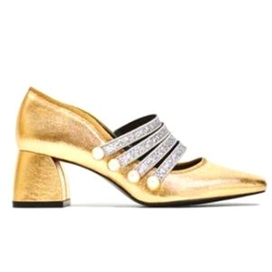 Zara W Limited Edition Gold and Silver Pumps